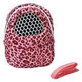 Pet Carrier Bag Burst Red Hamster Portable Breathable Outgoing Bag for Small pets like Hedgehog,Sugar Glider and Squirrel etc (Small)