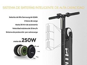 Moma Bikes Patinete Electrico Plegable Ultraligero (6,2Kg) Urbano Carbono 5