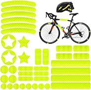 AGPTEK 38 Reflective Stickers Tape, Night Visibility Safety, Universal Adhesive for Bike/Stroller/Buggy/Helmet