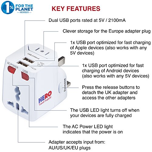 Buy electrical adapter for europe