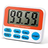 alarm clock direct entry - Digital Kitchen Timer, Cooking Timer, Large Display, Strong Magnet Back, Loud Alarm, Memory Function, 12-Hour Display Clock, Count-Up & Count Down for Cooking Baking Sports Games Office