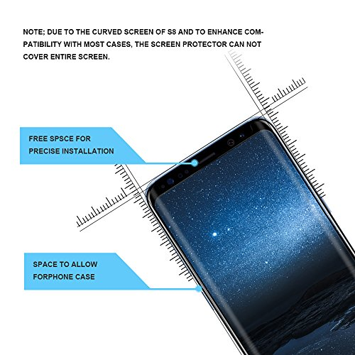 OTAO Galaxy S8 Tempered Glass Screen Protector [Update Version], Easy Installation [Case-friendly] Samsung S8 Tempered Glass Screen Protector with Installation Tray For Galaxy S8 by OTAO (Image #1)