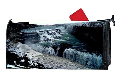Gullfoss Waterfall - FunnyLife Attractive Mailbox Makeover Gullfoss Waterfalls Mailbox Covers Home,Garden,Outdoor Magnetic