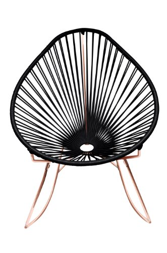 Innit Designs Acapulco Rocker, Black Weave on Copper Frame by Innit Designs