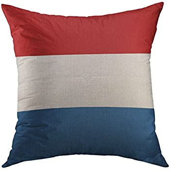 Mugod Decorative Throw Pillow Cover Netherlands Dutch Flag Accuracy Accurate Amsterdam Color Home Decor Pillow Case 18x18 Inch
