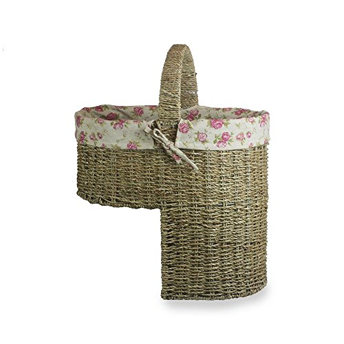 Seagrass Cotton Lined Stair Basket by Red Hamper