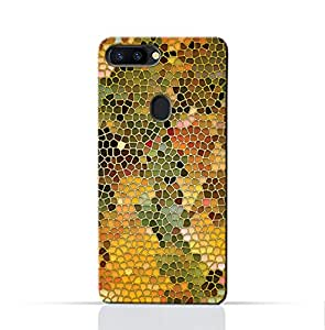 AMC Design Oppo R11S Plus Mobile Protective Case with Stained Art Glass Pattern - Yellow