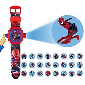 24 Images Spiderman Projector Watch...