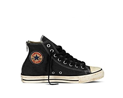 169280b2011f Converse Chuck Taylor All Stars Back Zip Hi Shoes UK 3 Vintage Washed Twill  Black