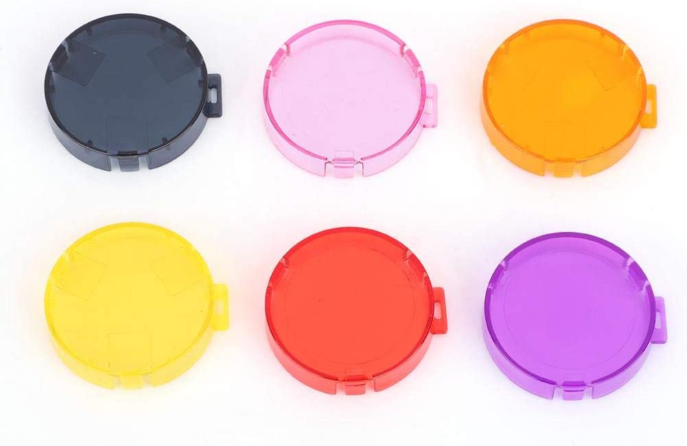 EK7000 Black,Yellow,Orange,Pink,Purple,Red Waterproof Housing Case Enhance Colors Lens Protector,Action Camera Super Suit Dive Housing for AKASO Tangxi 6 Pack Colorful Action Camera Dive Filter