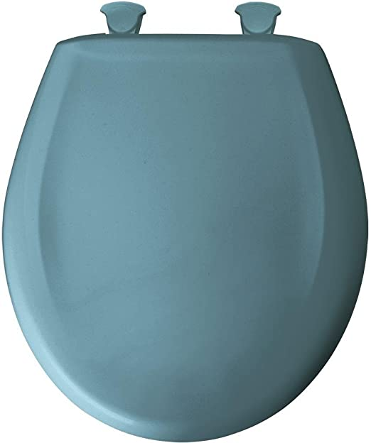 Deluxe Regency Blue Wood Round Toilet Seat