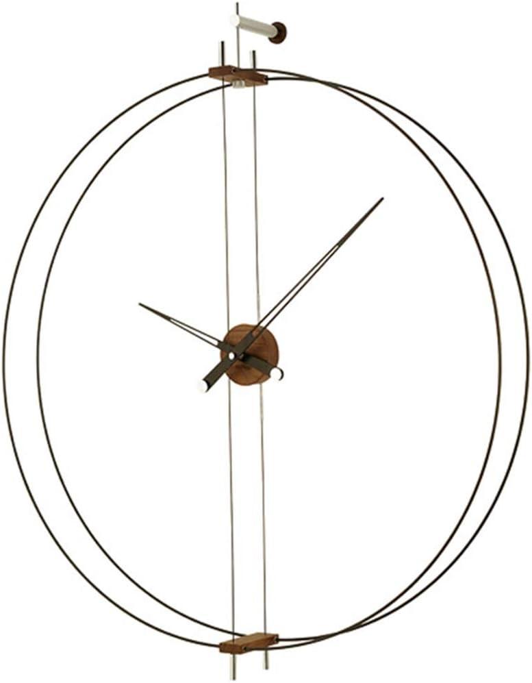 ZQQBRZXFT Reloj De Pared Reloj De LatóN Reloj De Pared Reloj De Pared De Nogal Moderno Mute Minimalista