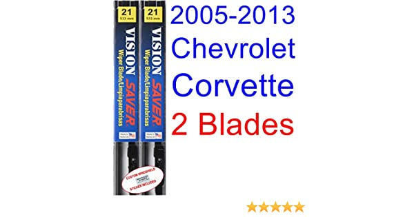 Amazon.com: 2005-2013 Chevrolet Corvette Replacement Wiper Blade Set/Kit (Set of 2 Blades) (Saver Automotive Products-Vision Saver) (2006,2007,2008,2009 ...