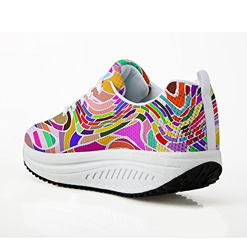 Platform Shoes for Women Fresh Walking Sneakers Daily Walk Breathable Shoes Teens Girls Pattern 4 322SQxUx