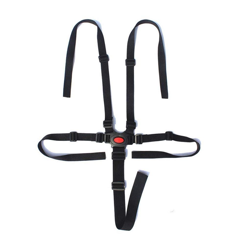 Baby Stroller Harness Safe Belt 5 Point Harness Belt for Stroller High Chair Pram Buggy Children Kid Pushchair Safe Belts Holder(Red) Rocita