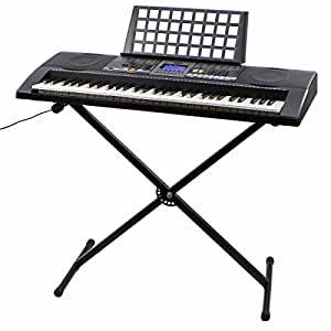 rison electronic piano keyboard 61 key music key board piano with x stand heavy duty. Black Bedroom Furniture Sets. Home Design Ideas
