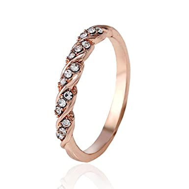 Amazon Com Rings Fashion Faux Crystal Ring Afterso Womens Girls