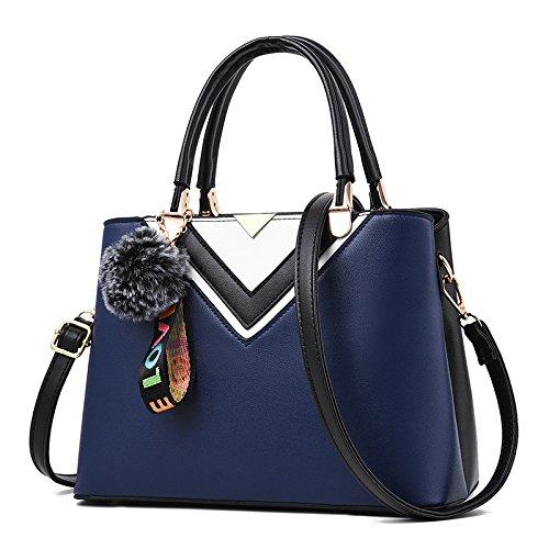 GUANGMING77 _Tasche Tasche Schulter Messenger Bag Lady Und Killer Three hand deep blue AioTP6tc