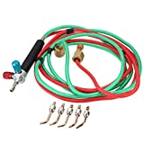Accuni Jewelery Micro Mini Little Gas Torch Welding Soldering Brazing Heating Kit with 5 Tips (9/16″-18-lh)