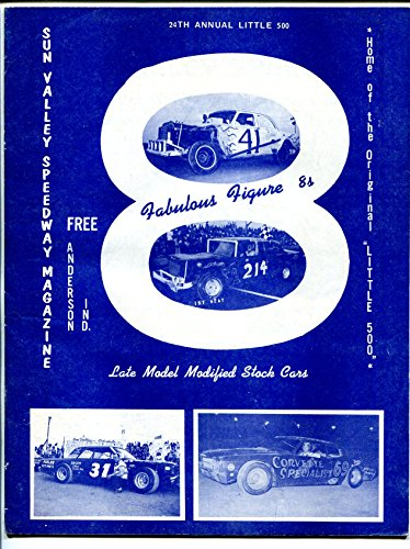 Sun Valley Speedway Race Program 1972-Anderson, IN-Little 500 - Stores Valley Sun