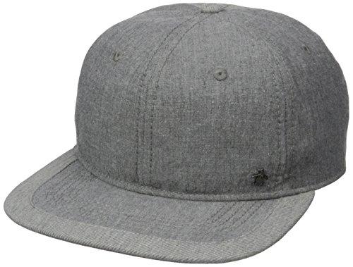 Original Penguin Men's Chambray Flat Visor Cap, Grey, One - Penguin Linen Cap Original