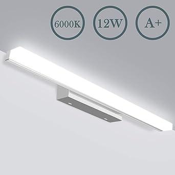LED Spiegelleuchte - Badezimmer 12W Badlampe JSLHT Wandleuchte ...