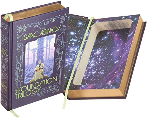 Real Hollow Book Safe - The Foundation Trilogy by Isaac Asimov (Leather-bound) (Magnetic Closure)