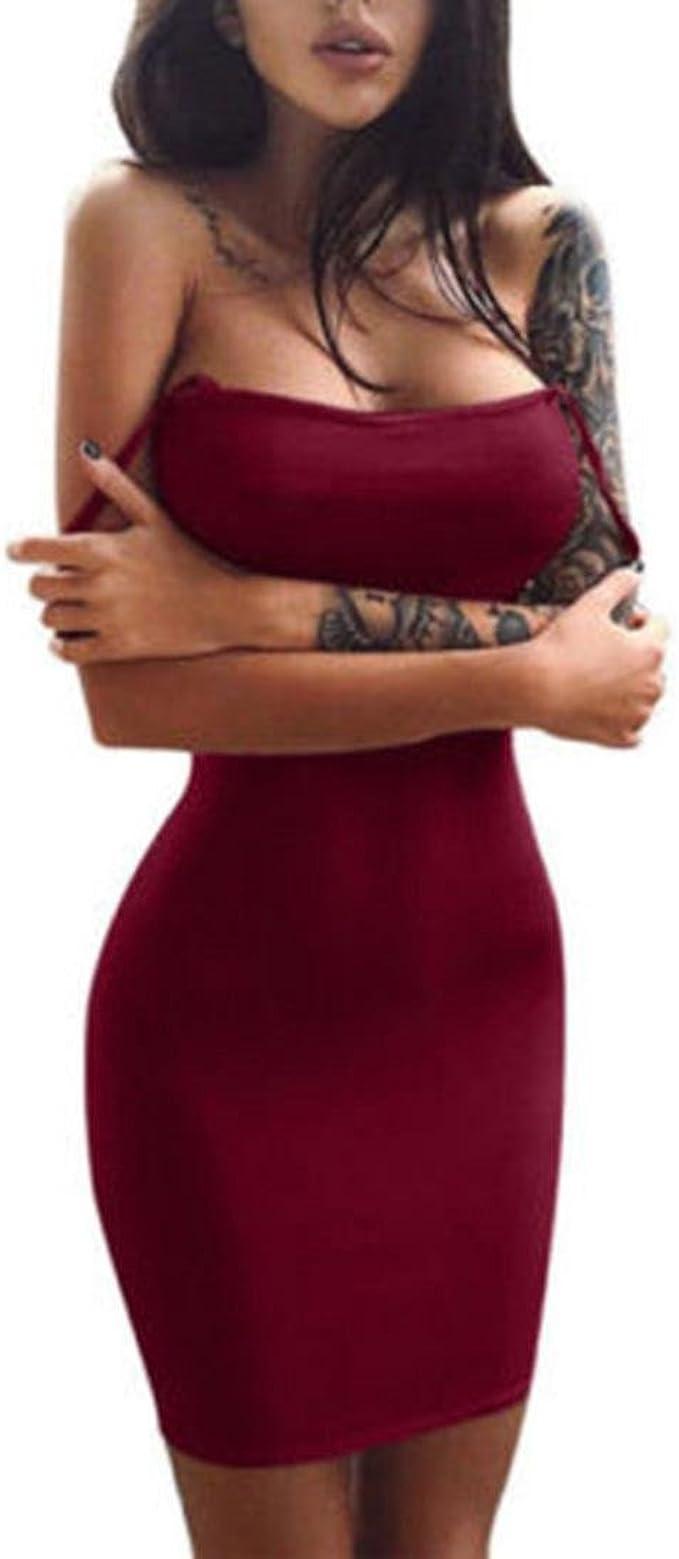 Blusas para Mujer Rawdah Falda Sin Mangas para Mujer Mini ...