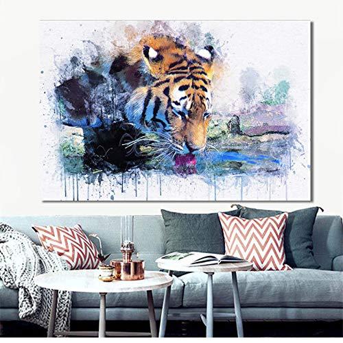 RTCKF Resumen Animal Poster y Wall Print Art Lienzo Pintura ...