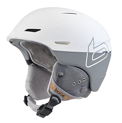 (Bolle Millennium Soft Knit Helmet, White/Grey, 54-58cm)