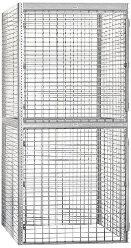 Salsbury Industries Bulk Storage Locker Double Tier Starter, 48-Inch, 48-Inch