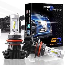 BPS Lighting G7 LED Headlight Bulbs Kit w/Clear Arc Beam 50W 8000LM 6000K - 6500K White Philips Luxeon ZES LED Headlight Conversion for Replace Halogen Bulb Headlights 2 Yr Warranty - (2pcs/set) (9007/HB5, 6500K)