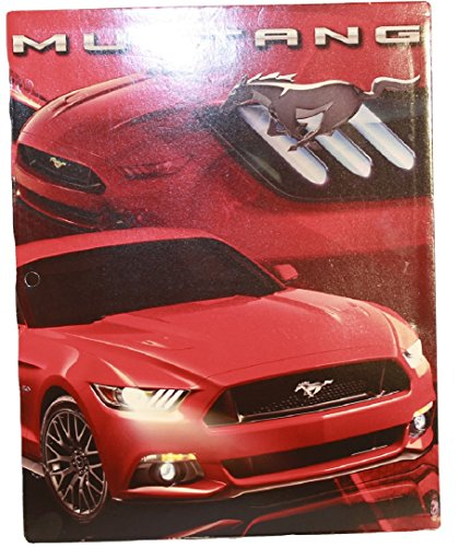 Ultimate Ford Mustang Muscle Car (Automobile) Themed 6 Item School Supply Bundle Kit - Includes One 3 Ring Binder Notebook, 2 Individual Pocket Folders, 1 Binder Pencil Pouch & 2 Spiral Notebooks (Red)