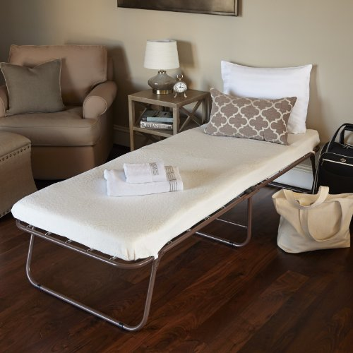 Night Therapy Weekender Elite Folding Guest Bed Frame with Bonus Storage Bag