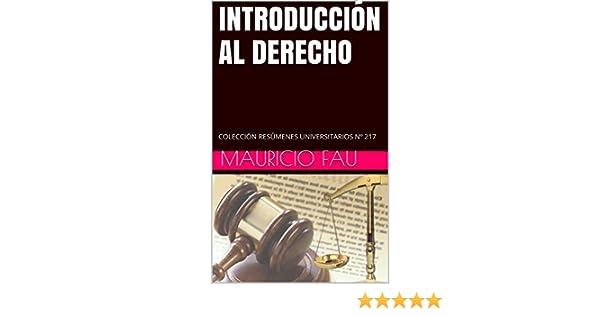 Amazon.com: INTRODUCCIÓN AL DERECHO: COLECCIÓN RESÚMENES UNIVERSITARIOS Nº 217 (Spanish Edition) eBook: Mauricio Fau: Kindle Store