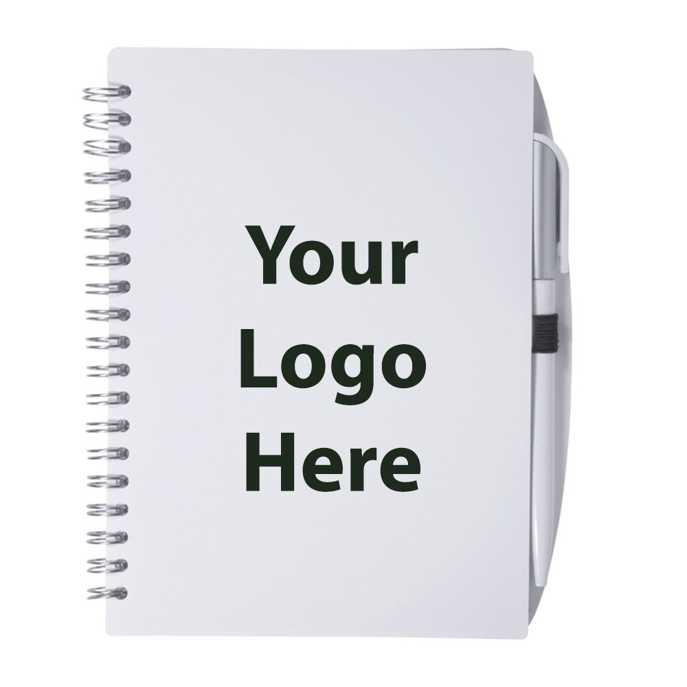 Spiral Notebook With Pen - 150 Quantity - $2.85 Each - PROMOTIONAL PRODUCT / BULK / BRANDED with YOUR LOGO / CUSTOMIZED