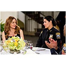 Sasha Alexander 8 x 10 Photo Rizzoli & Isles w/Angie Harmon Police Uniform Both Sitting at Restaurant Table kn
