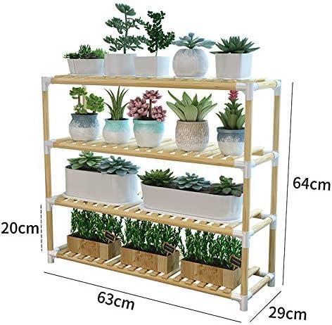 Soporte de madera para macetas de 4 ramas de flores para interior y exterior, escalera para plantas de balcón, escalera de pie para macetas Bonsai: Amazon.es: Hogar