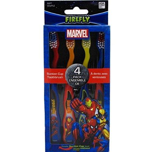 Dr. Fresh Marvel Heroes Standing Toothbrush, 4 Pack