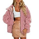XOWRTE Women's Lapel Faux Shearling Warm Winter Jacket Overcoat Outwear Coat