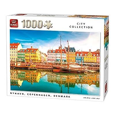 King 5704 Nyhavn Danimarca Puzzle Da Pezzi 68 X 49 Cm