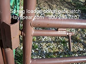 Amazon Com Spring Loaded Cattle Corral Pin Gate Latch