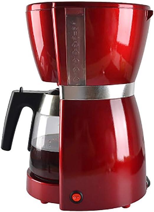 YBCD Cafetera de Goteo/cafetera Americana/cafetería Comercial/Oficina/máquina de té Especial/cafetera/automática/roja: Amazon.es: Hogar