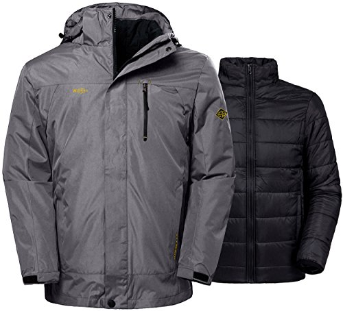 Wantdo Men's Winter Ski Jacket Water Resistant Windproof 3 In 1 Jacket Puff - Womens Tri Best Suit