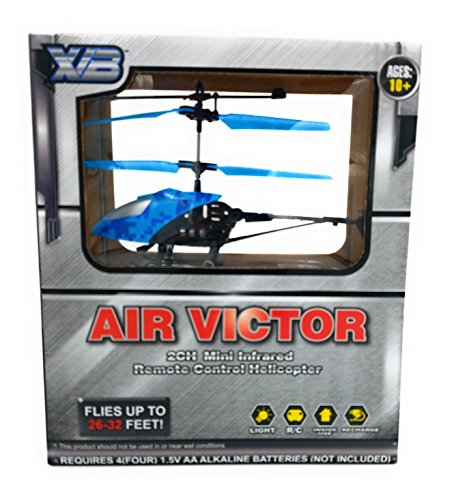 Blue Air Victor 2CH Mini Infrared Remote Control Helicopter