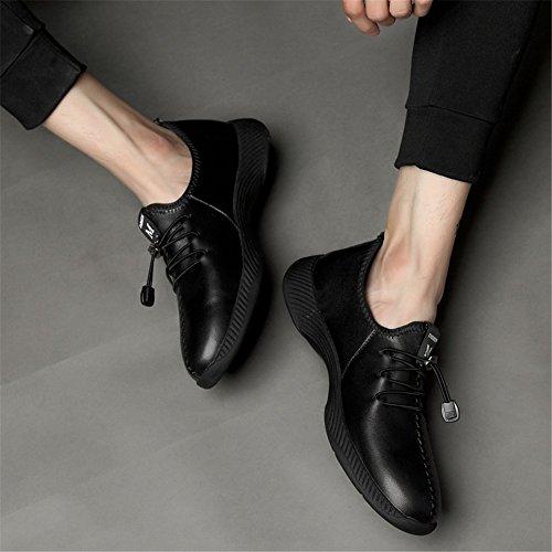 pour Baskets Plein Chaussures à Creux Plats Course Hommes D athlétique Chaussures air Léger en Out Printemps Automne Mocassins de Cuir en Lacets Confort Trekking nZwY4