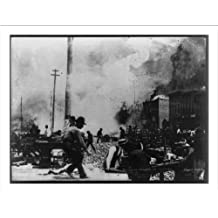 Historic Print (L): Middlesborough [Ky.] in Flames. Scene on Cumberland Ave.