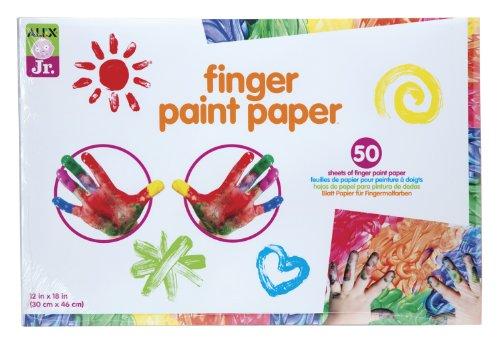 alex-jr-finger-paint-paper