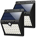 Solar Lights Outdoor [46 LEDs], Gixvdcu Solar Powered Motion Sensor Lights Waterproof Security Wireless Wall Lights for Outdoor, Garden, Patio Yard, Deck Garage, Fence, Driveway Porch (2 Pack)