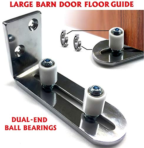 - New Floradis Chrome Plated Floor Guide For Bottom Of Sliding Barn Doors. Lay-Flat System. Sits Flush To Floor. Ultra Smooth Fully Adjustable Wall Mount Stay Roller Guide. Ball Bearings Technology
